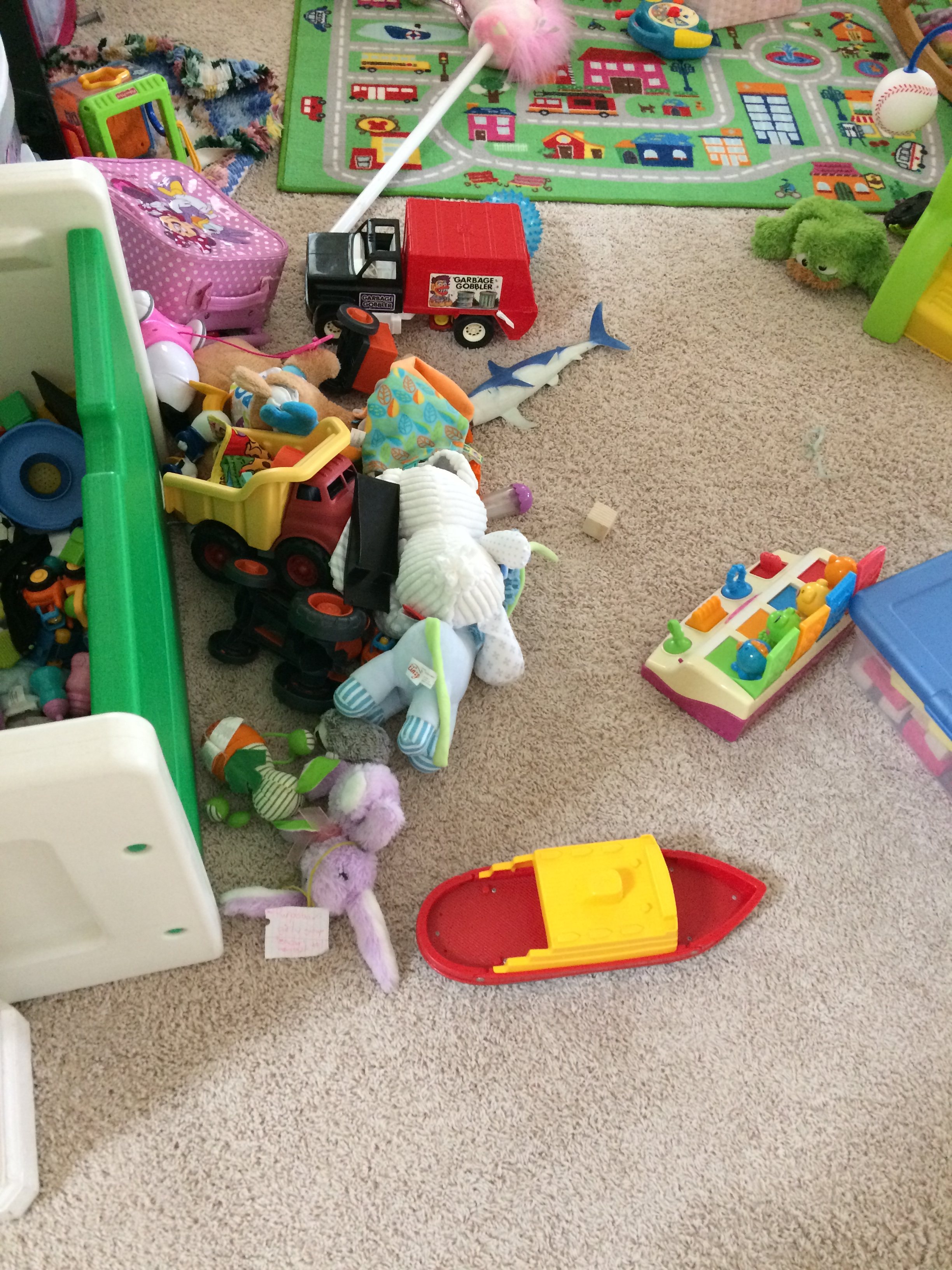 toys all over